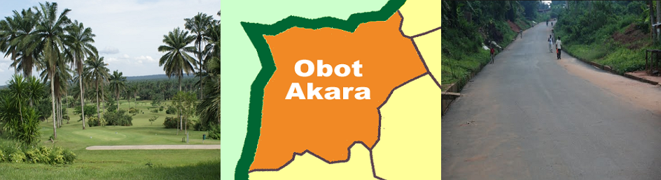 Obot Akara town is a local government area in the North-East part of Akwa Ibom State, which is located in the South-South region of Nigeria. The town shares common boundaries with Ini, Ikot Ekpene, Ikono, and Essien Udim. Other neighboring towns close to it outside Akwa Ibom are Isiala Ngwa and Ikwuano in Abia state.